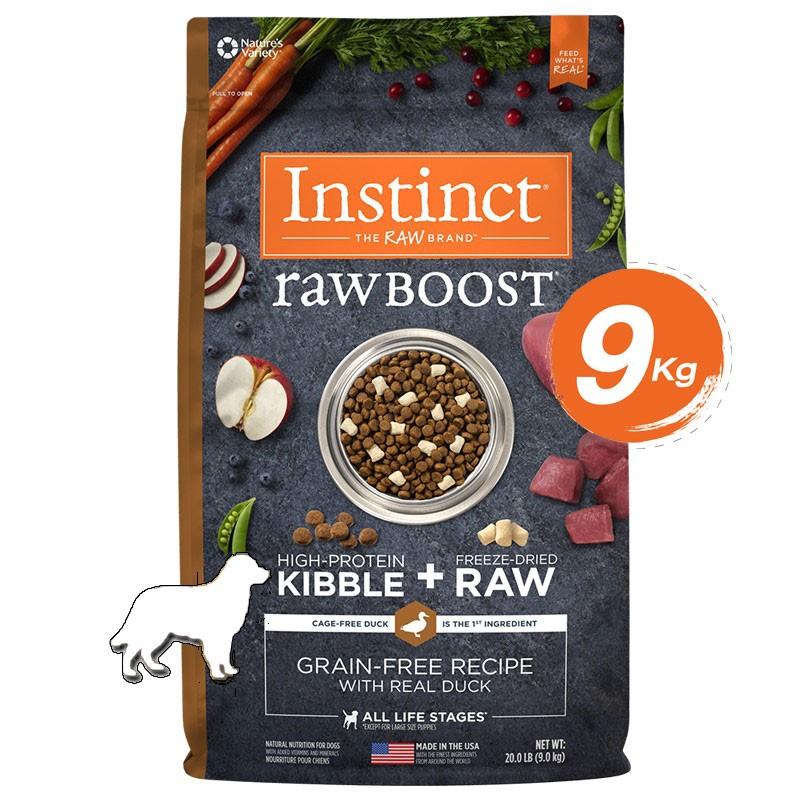 Instinct Raw Boost Duck Dogs 20lb (9kg)