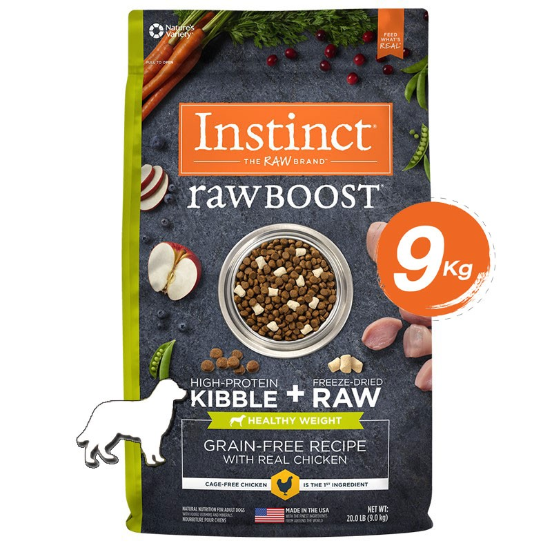 Instinct Raw Boost Healthy Weight Chicken Dogs 20lb (9kg)
