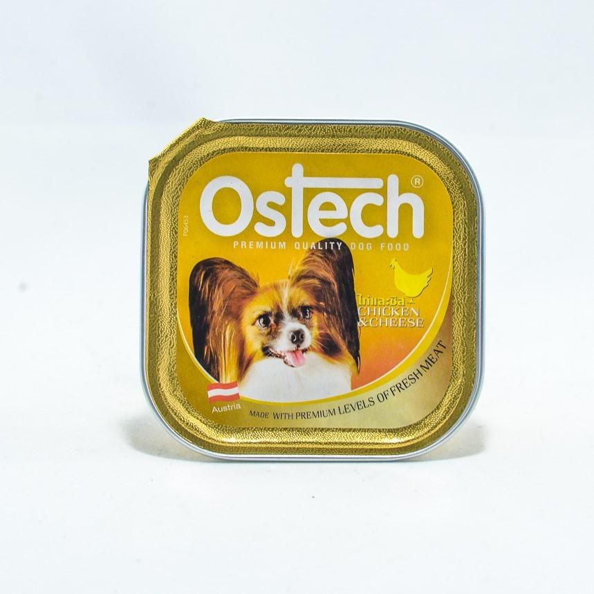 อาหารถาดสุนัขออสเทค รสไก่+ชีส  100 g.