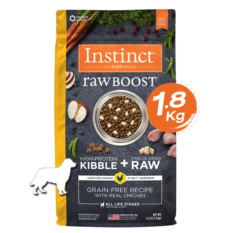 Instinct Raw Boost Chicken Dogs 4lb (1.8kg)
