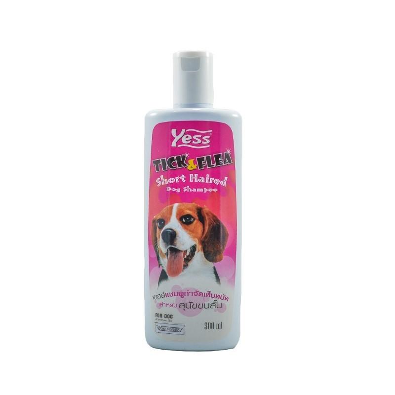 แชมพูเยสส์ กำจัดเห็บ-หมัด (สุนัขขนสั้น) 300 ml.