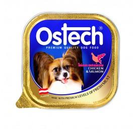 อาหารถาดสุนัขออสเทค รสไก่+ปลาแซลมอน  100 g.