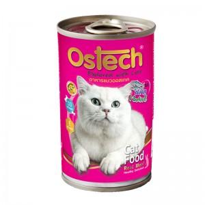 อาหารกระป๋องแมวออสเทค รสปลาทู 400 g.