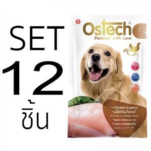 [Set12ซอง]อาหารซองสุนัขออสเทค อัลตร้า เนื้อไก่ในน้ำเกรวี่ 70g