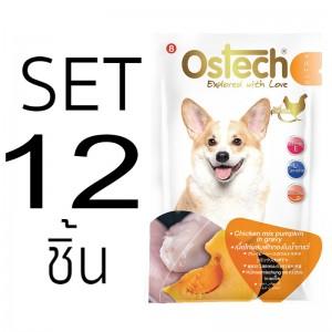[Set12ซอง]อาหารซองสุนัขออสเทค อัลตร้า เนื้อไก่ผสมฟักทองในน้ำเกรวี่ 70g