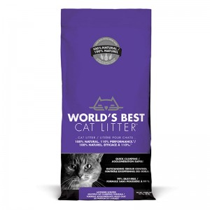 World's Best Cat Litter LAVENDER SCENTED MULTIPLE CAT CLUMPING 12.7 kg [ฟรีค่าจัดส่ง]