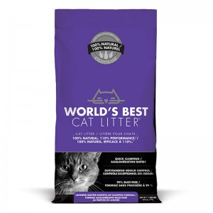 World's Best Cat Litter LAVENDER SCENTED MULTIPLE CAT CLUMPING 3.18 kg