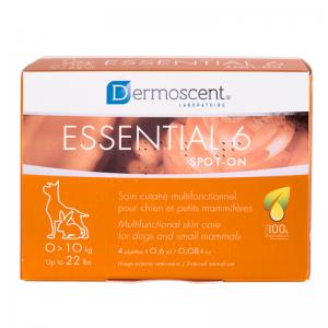 Dermoscent Essential 6® spot-on - S (dogs & Rabbit 0-10 kg) นํ้ามันบำรุงผิวชนิดหยด (สุนัข 0-10 กก และกระต่าย)