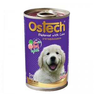 อาหารกระป๋องสุนัขออสเทค สูตรลูกสุนัข รสเนื้อ+ผัก 400 g.