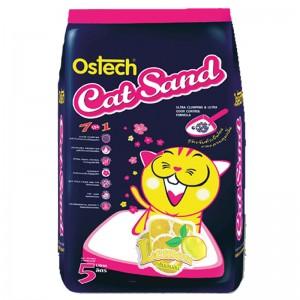 ทรายแมวอนามัย-เม็ดกลม ออสเทค(กลิ่นเลมอน) 5 L