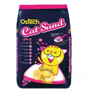 ทรายแมวอนามัย-เม็ดกลม ออสเทค(กลิ่นแคนตาลูป) 5 L