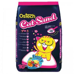 ทรายแมวอนามัยเม็ดกลม ออสเทค(กลิ่นผลไม้รวม) 10L