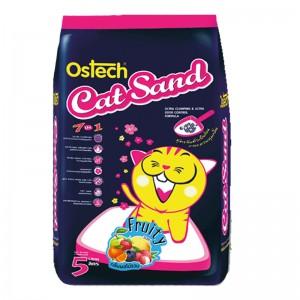 ทรายแมวอนามัย-เม็ดกลม ออสเทค(กลิ่นผลไม้รวม) 5 L