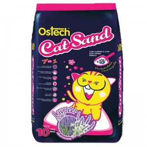 ทรายแมวอนามัยเม็ดกลม ออสเทค(กลิ่นลาเวนเดอร์) 10L