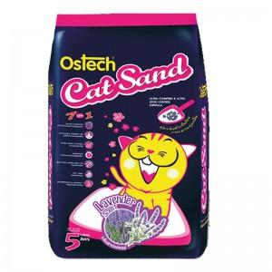 ทรายแมวอนามัย-เม็ดกลม ออสเทค(กลิ่นลาเวนเดอร์) 5 L