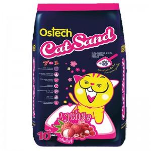 ทรายแมวอนามัยเม็ดกลม ออสเทค(กลิ่นลิ้นจี่) 10L