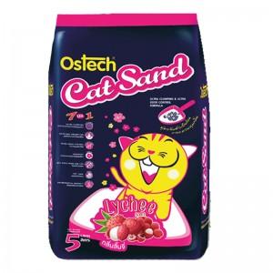 ทรายแมวอนามัย-เม็ดกลม ออสเทค(กลิ่นลิ้นจี่) 5 L