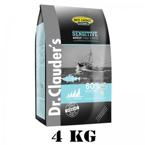Dr.Clauder's Best Choice Adult Fish & Rice All Breed  (Kibble for Dogs) 4 kg