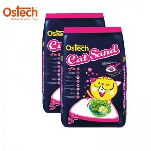 [ชุด2ถุง ถูกกว่า]ทรายแมวอนามัย-เม็ดกลม ออสเทค(กลิ่นแอปเปี้ล) 5 L
