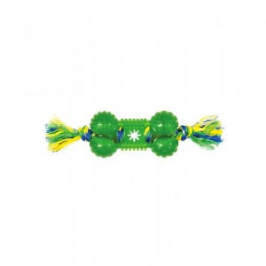 CHOMPER : TPR TREAT BONE ROPE TUG