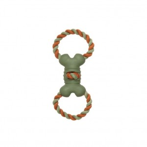 CHOMPER : NATURAIL TAIL WANGGERS TPR BONE DOUBLE ROPE RING TUG