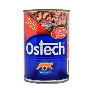 อาหารกระป๋องแมวออสเทค รสทูน่าหน้ากุ้ง 400 g.