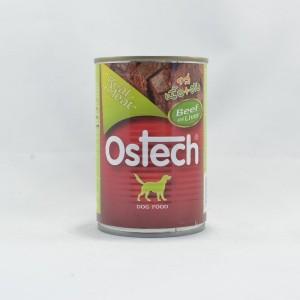 อาหารกระป๋องสุนัขออสเทค รสเนื้อ+ตับ 400 g.