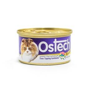 อาหารกระป๋องแมวออสเทค กัวเม่ รสทูน่าหน้าปูอัด 80 g.