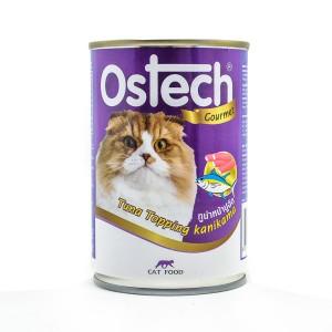 อาหารกระป๋องแมวออสเทค กัวเม่ รสทูน่าหน้าปูอัด 400 g.