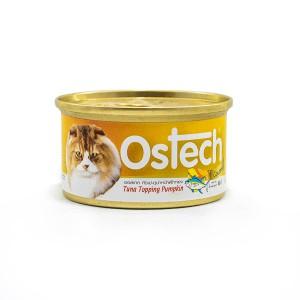 อาหารกระป๋องแมวออสเทค กัวเม่ รสทูน่าหน้าฟักทอง 80 g.