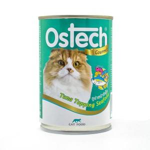 อาหารกระป๋องแมวออสเทค กัวเม่ รสทูน่าหน้าซีฟู้ด 400 g.