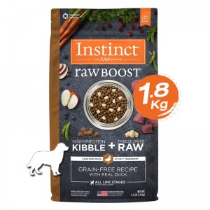 Instinct Raw Boost Duck Dogs 4lb (1.8kg)