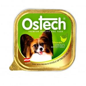 อาหารถาดสุนัขออสเทค รสไก่+ผัก 100 g.