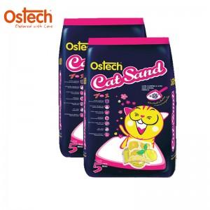 [ชุด2ถุง ถูกกว่า]ทรายแมวอนามัย-เม็ดกลม ออสเทค(กลิ่นเลมอน) 5 L
