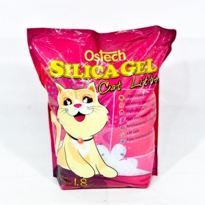 ทรายแมวซิลิก้าเจล ออสเทค 1.8 kg. (1x8)