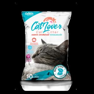 ทรายแมว ออสเทค Cat Lover กลิ่นมินต์ 10 L