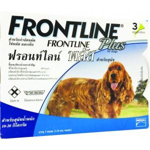 ฟรอนท์ไลน์ พลัส สุนัข M / 1กล่อง x 3 ชิ้น