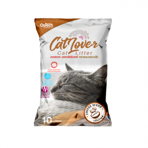 ทรายแมว ออสเทค Cat Lover กลิ่นกาแฟ 10 L