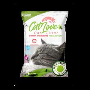 ทรายแมว ออสเทค Cat Lover กลิ่นแอปเปิ้ล 5 L
