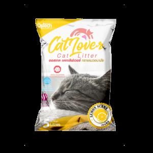 ทรายแมว ออสเทค Cat Lover กลิ่นเลมอน 5 L