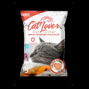 ทรายแมว ออสเทค Cat Lover กลิ่นส้ม 5 L