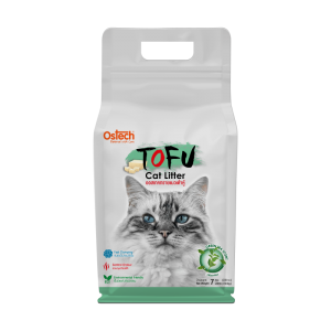 ทรายแมวเต้าหู้ ออสเทค Tofu ทรายแมวเต้าหู้ กลิ่นชาเขียว 7 L