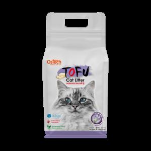 ทรายแมวเต้าหู้ ออสเทค Tofu ทรายแมวเต้าหู้ กลิ่นลาเวนเดอร์ 7 L