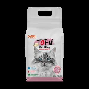 ทรายแมวเต้าหู้ ออสเทค Tofu ทรายแมวเต้าหู้ กลิ่นซากุระ 7 L