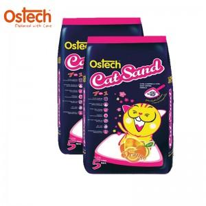 [ชุด2ถุง ถูกกว่า]ทรายแมวอนามัย-เม็ดกลม ออสเทค(กลิ่นส้ม) 5 L