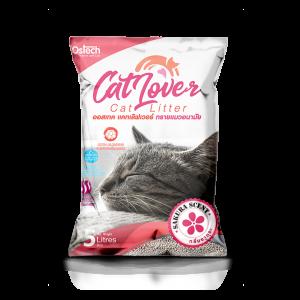 ทรายแมว ออสเทค Cat Lover กลิ่นซากุระ 5 L