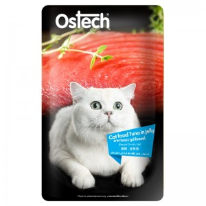 อาหารแมวออสเทค เพาช์-ทูน่าในเยลลี่