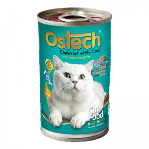 อาหารกระป๋องแมวออสเทค รสปลาทู+ทูน่าไก่ 400 g.